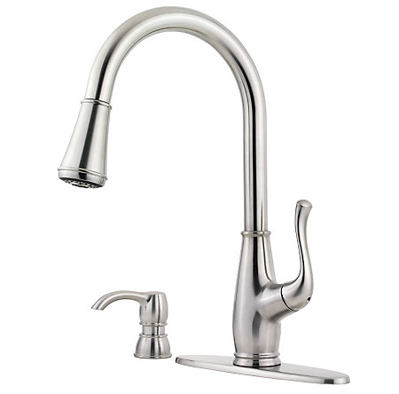 Stainless Steel Sedgwick 1-Handle, Pull-Down Kitchen Faucet - F-529-7SWS - 2