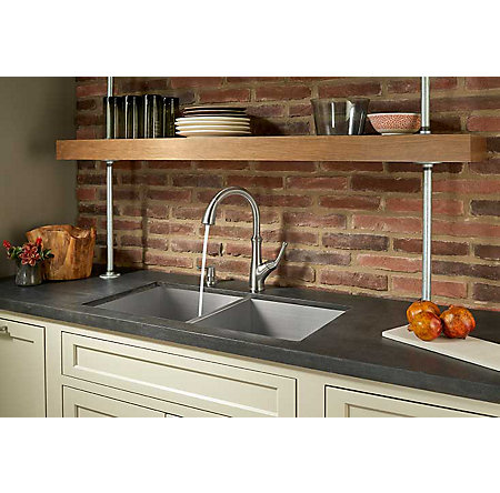 Stainless Steel Tamera Pulldown Kitchen Faucet - F-529-7TAS - 4