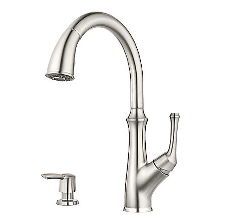 Stainless Steel Tamera Pulldown Kitchen Faucet - F-529-7TAS - 1
