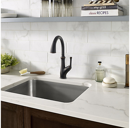 Tuscan Bronze Tamera Pulldown Kitchen Faucet   F 529 7TAY   4
