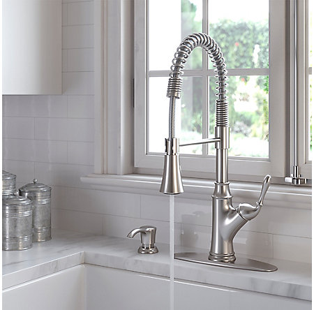 Stainless Steel Orono 1-Handle Pull Down Culinary Kitchen Faucet - F-529-9ONS - 4