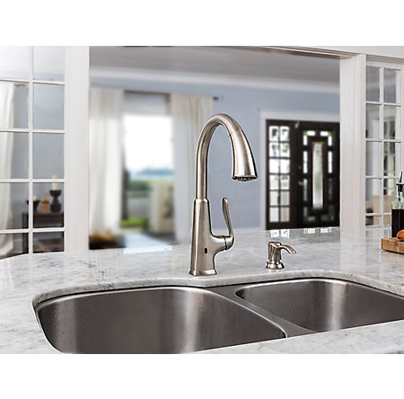 Stainless Steel Pasadena Touch-Free Pull-Down Kitchen Faucet with React™ - F-529-EPDS - 8