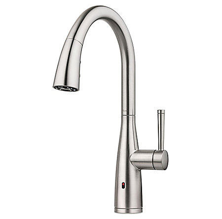 Spot Defense Stainless Steel Raya 1-Handle Electronic Pull-Down Kitchen Faucet with React Technology - F-529-ERYGS - 2