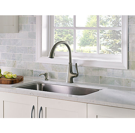 Slate Pasadena 1-Handle, Pull-Down Kitchen Faucet - F-529-PDSL - 3