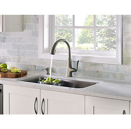 Slate Pasadena 1-Handle, Pull-Down Kitchen Faucet - F-529-PDSL - 4
