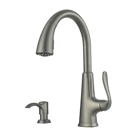 Slate Pasadena 1-Handle, Pull-Down Kitchen Faucet - F-529-PDSL - 1