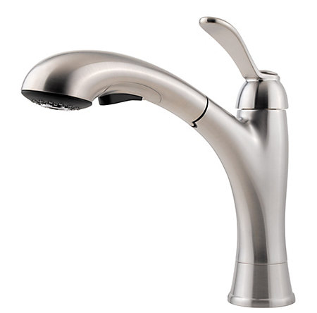 Stainless Steel Clairmont 1-Handle, Pull-Out Kitchen Faucet - LF-534-7CMS - 1