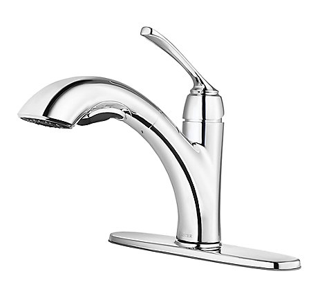 Polished Chrome Cantara 1-Handle, Pull-Out Kitchen Faucet - F-534-7CRC - 2