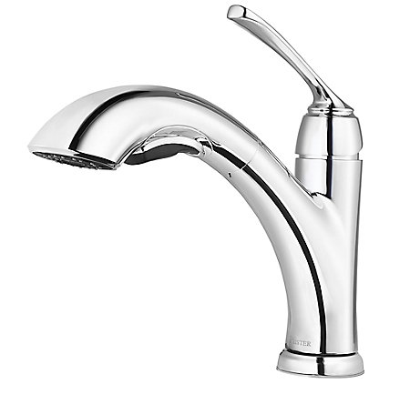 Polished Chrome Cantara 1-Handle, Pull-Out Kitchen Faucet - F-534-7CRC - 1