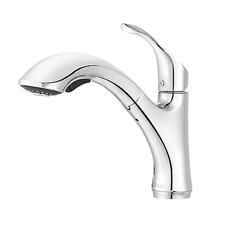 Polished Chrome Corvo 1-Handle, Pull-Out Kitchen Faucet - F-534-7CVC - 1