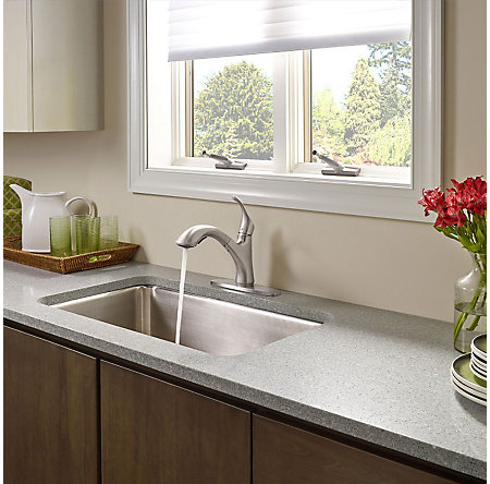 Stainless Steel Corvo 1-Handle, Pull-Out Kitchen Faucet - F-534-7CVS - 5
