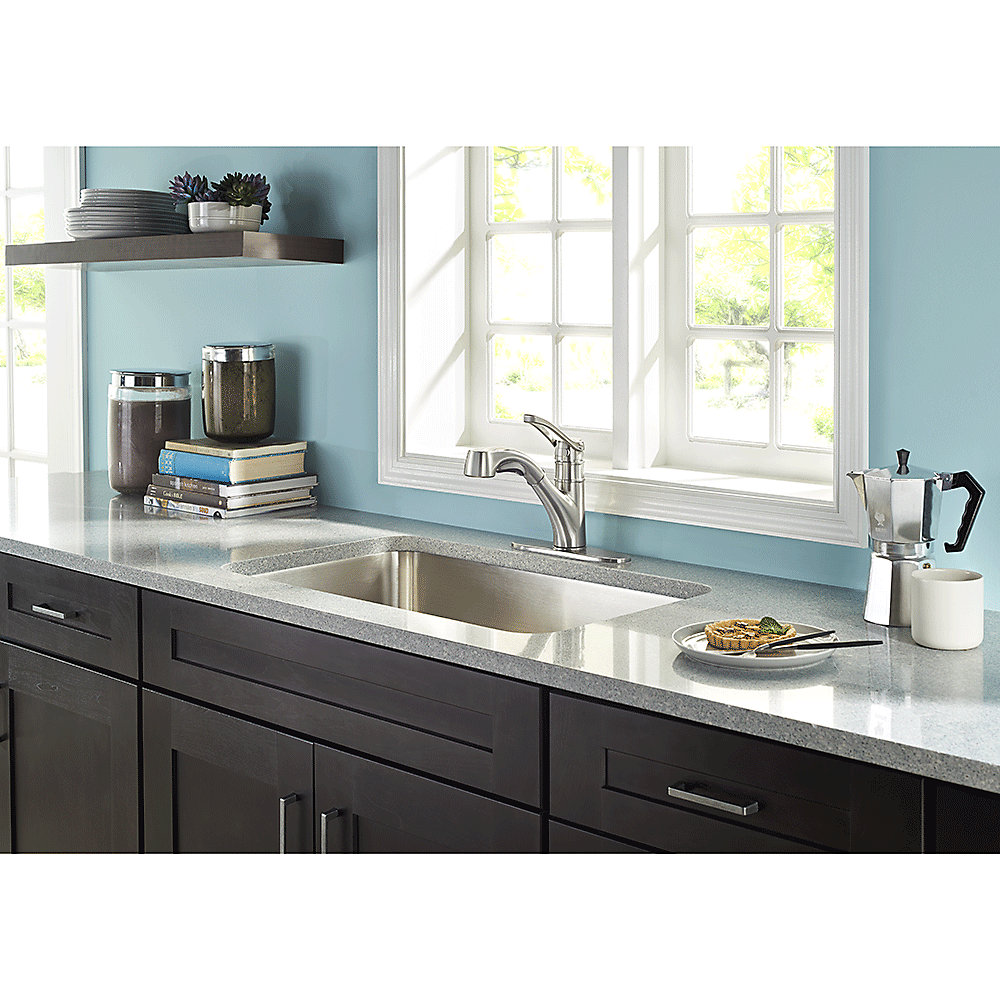 Stainless Steel Prive 1-Handle, Pull-Out Kitchen Faucet - F-534-7PVS ...