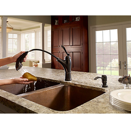 Tuscan Bronze Glenfield 1-Handle, Pull-Out Kitchen Faucet - F-534-PGFY - 4