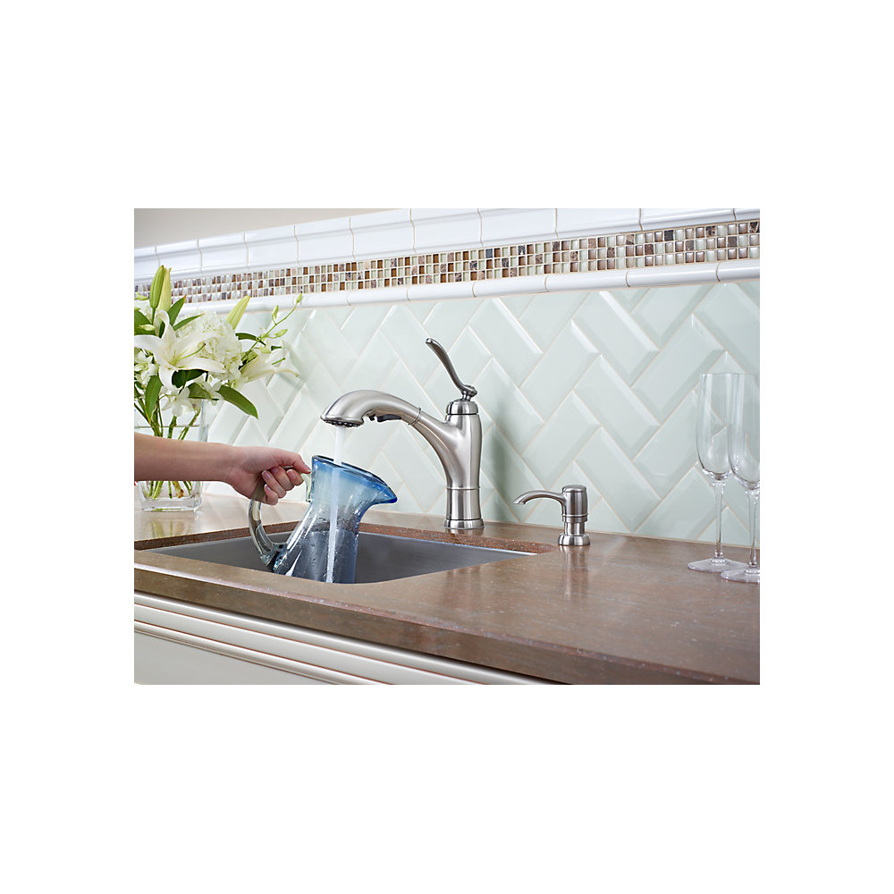 Stainless Steel Glenfield 1-Handle, Pull-Out Kitchen Faucet - F-534 ...