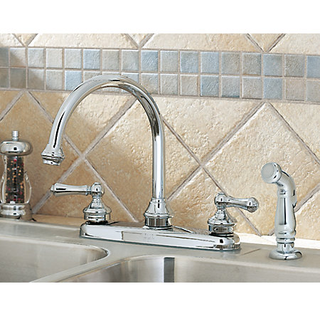 Polished Chrome Savannah 2-Handle Kitchen Faucet - LF-8H6-85BC - 3