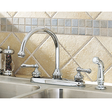 Polished Chrome Savannah 2-Handle Kitchen Faucet - LF-8H6-85BC - 4