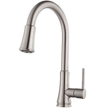 Stainless Steel Pfirst Series Pull-Down Kitchen Faucet - G529-PF1S - 1