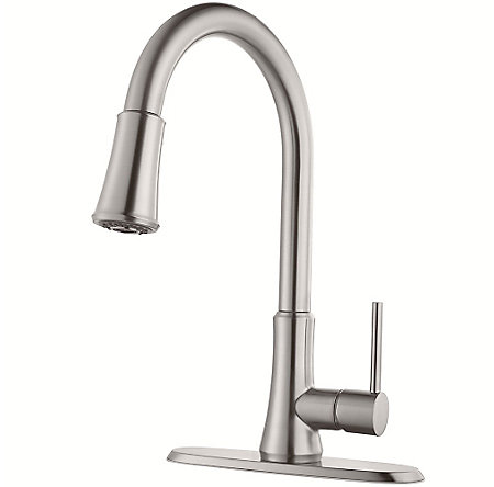 Stainless Steel Pfirst Series Pull-Down Kitchen Faucet - G529-PF1S - 2