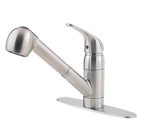 Stainless Steel Pfirst Series 1-Handle, Pull-out Kitchen Faucet - G133-10SS - 2