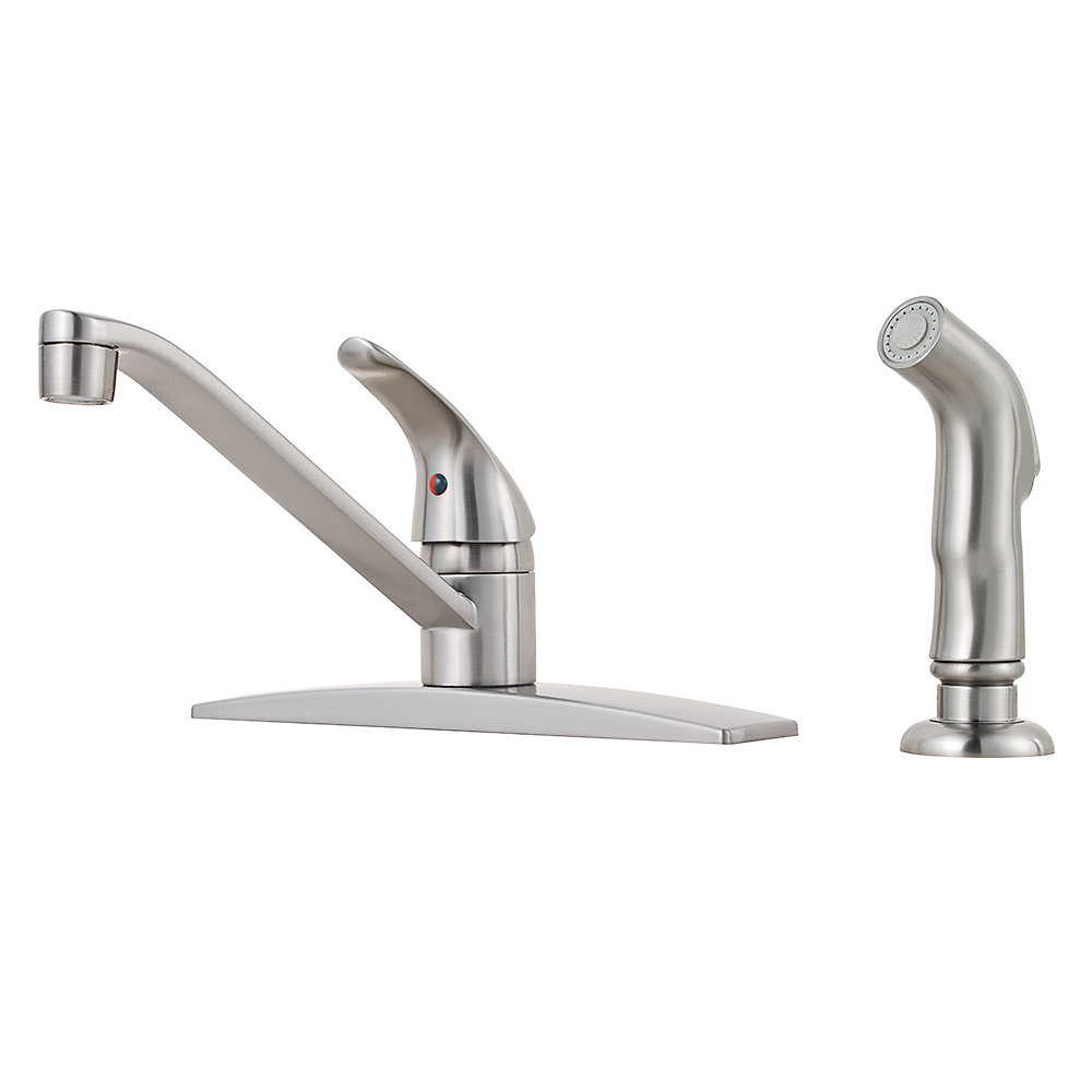 Stainless Steel Pfirst Series 1-Handle Kitchen Faucet - G134-444S ...