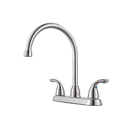 Stainless Steel Pfirst Series 2-Handle Kitchen Faucet - G136-200S - 1