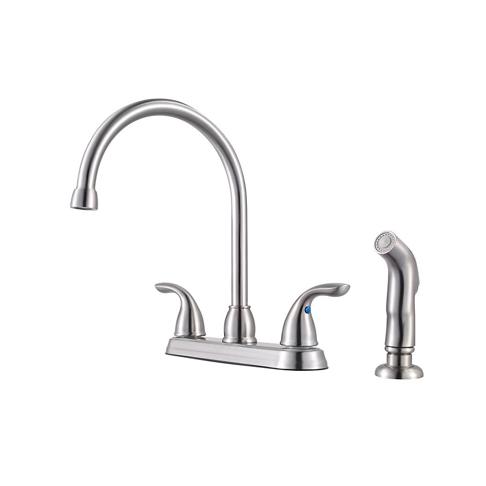 Stainless Steel Pfirst Series 2-Handle Kitchen Faucet - G136-500S ...
