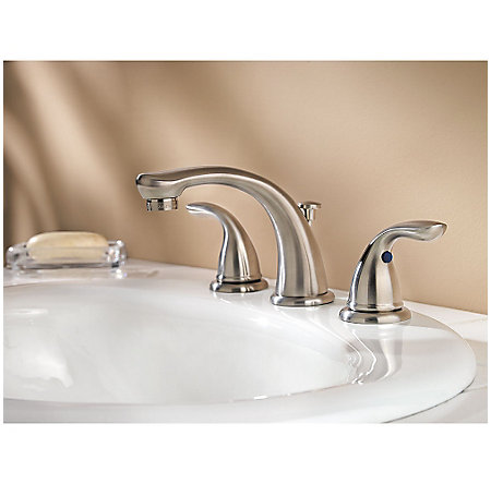 Brushed Nickel Pfirst Series Widespread Bath Faucet - LG149-610K - 2