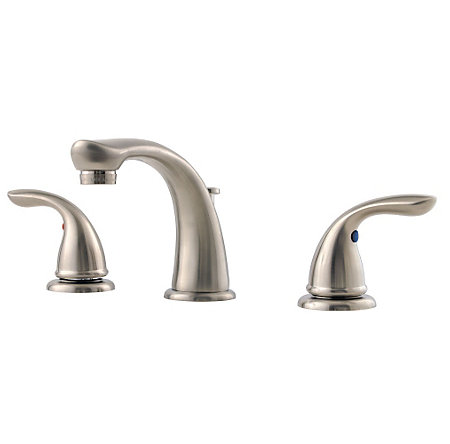 Brushed Nickel Pfirst Series Widespread Bath Faucet - LG149-610K - 1