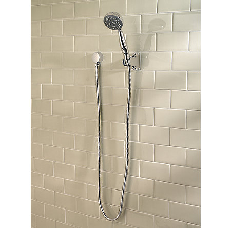 Polished Chrome Pfirst Series 3-Function Handheld Shower - G16-200C - 2