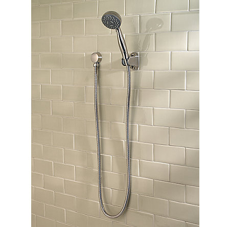 Brushed Nickel Pfirst Series 3-Function Handheld Shower - LG16-200K - 2