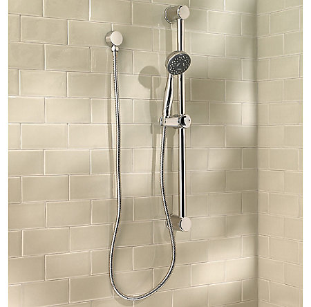 Polished Chrome Pfister 3-Function Handheld Shower - LG16-300C - 2