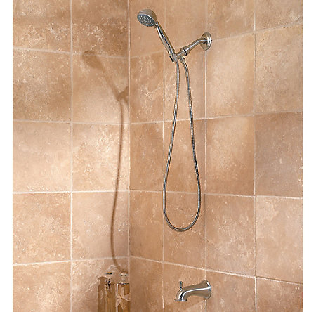 Brushed Nickel Pfister 3-Function Handheld Shower  - G16-300K - 3