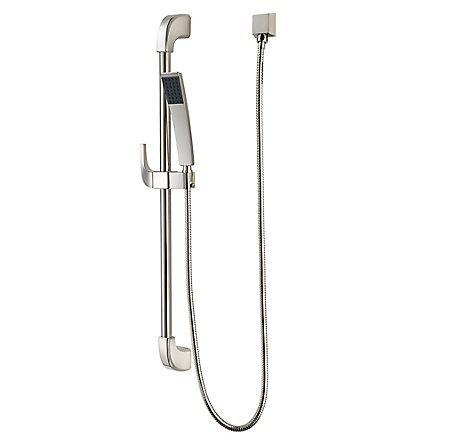 Polished Nickel Park Avenue Slide Bar/Hand Shower Kit   LG16 3FWD   1