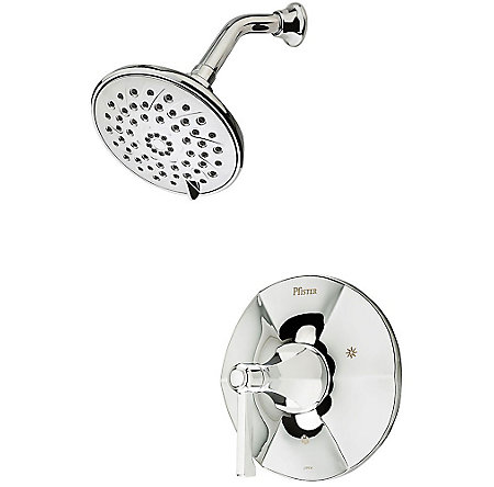 Polished Chrome Arterra 1-Handle Shower, Trim Only - LG89-7DEC - 1