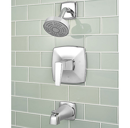 Polished Chrome Arkitek 1-Handle Tub & Shower, Trim Only - G89-8LPMC - 2