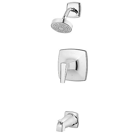 Polished Chrome Arkitek 1-Handle Tub & Shower, Trim Only - LG89-8LPMC - 1