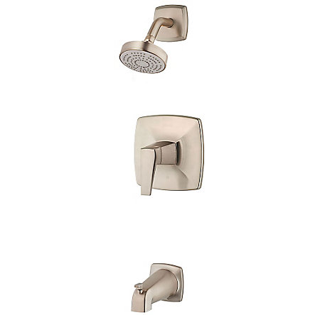 Brushed Nickel Arkitek 1-Handle Tub & Shower, Trim Only - G89-8LPMK - 1