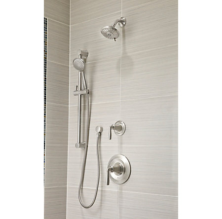 Brushed Nickel Iyla 1-Handle Tub & Shower, Trim Only - LG89-8TRK - 2