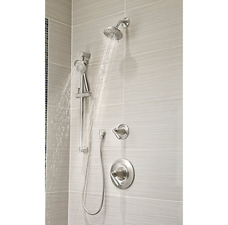 Brushed Nickel Iyla 1-Handle Tub & Shower, Trim Only - LG89-8TRK - 3
