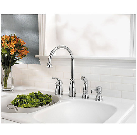 Polished Chrome Avalon 1-Handle Kitchen Faucet - GT26-4CBC - 2