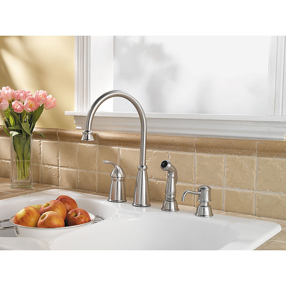 Stainless Steel Avalon 1-Handle Kitchen Faucet - GT26-4CBS ...