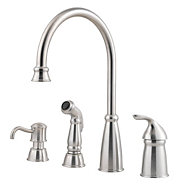 Stainless Steel Avalon 1 Handle Kitchen Faucet Gt26 4cbs