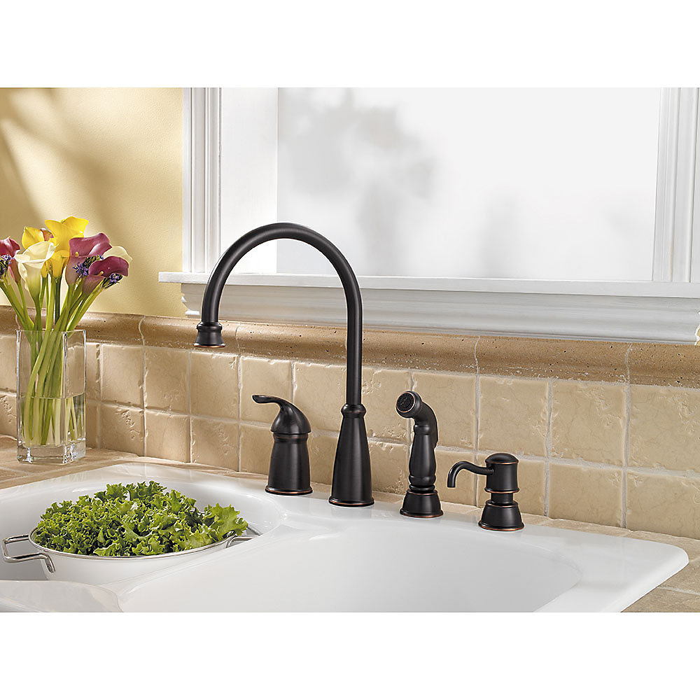 Tuscan Bronze Avalon 1-Handle Kitchen Faucet - GT26-4CBY | Pfister ...