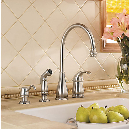 Stainless Steel Treviso 1-Handle Kitchen Faucet - LG26-4DSS - 4