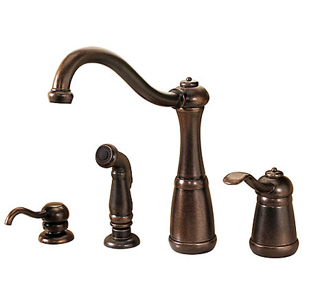 Rustic Bronze Marielle 1-Handle Kitchen Faucet - LG26-4NUU - 1