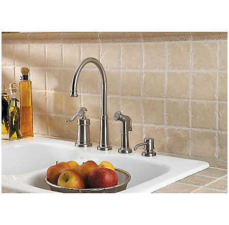 Brushed Nickel Ashfield 1-Handle Kitchen Faucet - LG26-4YPK - 2