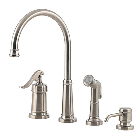 Brushed Nickel Ashfield 1 Handle Kitchen Faucet Lg26 4ypk