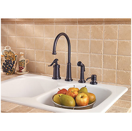 Tuscan Bronze Ashfield 1-Handle Kitchen Faucet - LG26-4YPY - 3
