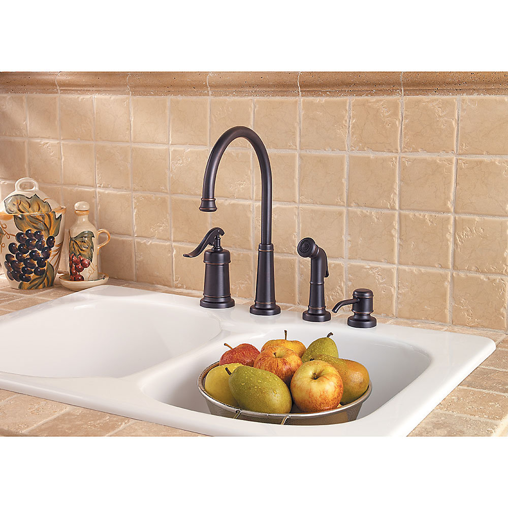 Tuscan Bronze Ashfield 1 Handle Kitchen Faucet   LG26 4YPY   3