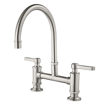 Stainless Steel Port Haven Bridge Kitchen Faucet - GT31-TDS - 1